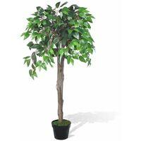 Palmier artificiel plastique avec pot 110 cm vert - vert