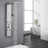 Auralum - Columna de Hidromasaje Ducha Moderna 3 Función Acero Inoxidable con Pantalla LCD para Baño