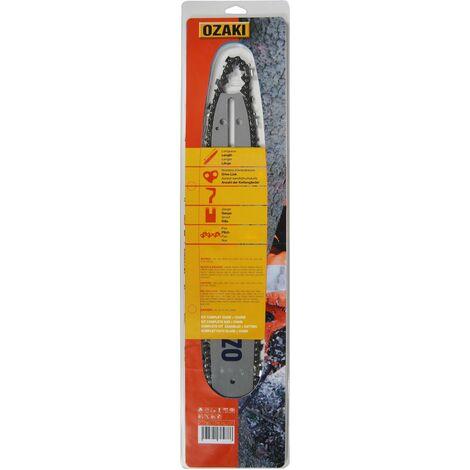 Guide + Chaîne OZAKI 45cm .325 .058 72 maillons Montage K