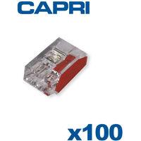 Bornes automatiques 2 entrées Rouge Boite de 100 pièces - CAPRI