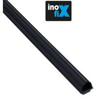 Lot de 4 gaines adhésives Cablefix 8 x 7 mm noir - Inofix