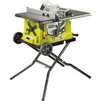 RYOBI - 5133002025 - RTS1800EF - Sierra de mesa con extensiones de 1800W con ruedas de transporte