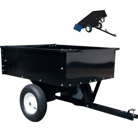 Remorque jardin tracteur tondeuse charge 225 kg