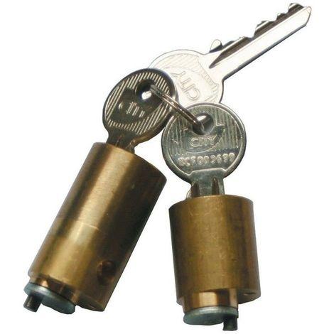Jeu de cylindres pour verrou CITY70mm - Multicouleur