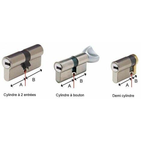 Cylindre Européen Y8 VariésDemi-cylindre 30x10mm - Multicouleur