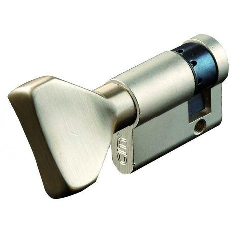 Cylindre européen à bouton CITY ISEO Finition: NickeléeDemi-cylindre 10x30mm - Multicouleur