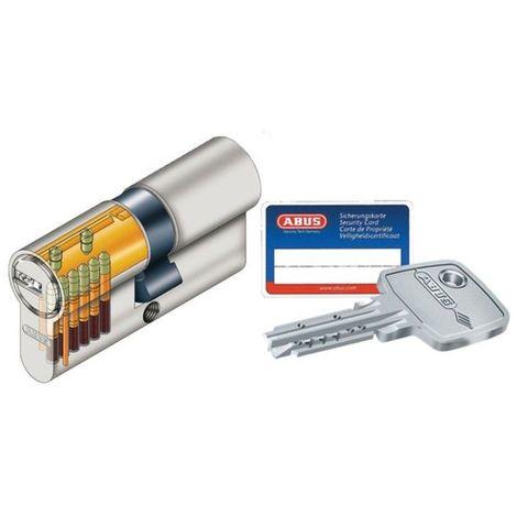 Cylindre européen de sureté ABUS EC-s  - débrayable -Demi-cylindre 30x10mm - Multicouleur