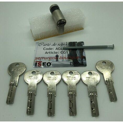 Cylindre européen CITY ISEO ISR6 avec 6 clés.Demi-cylindre 30x10mm - Multicouleur