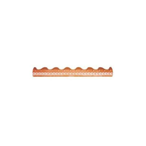 Closoir PEHD tuile béton double romane rouge brique 1,03 m BWK