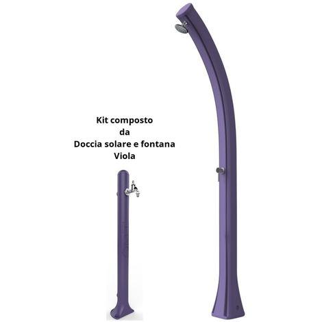 Kit de douche solaire et fontaine Viola cm 19x17x215 ARKEMA DESIGN - prodotto made in Italy DOCCIAEFONTANA VIOLA
