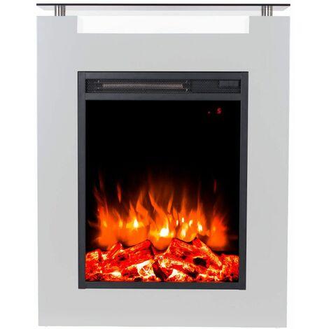 Gaia Bianco cheminée électrique au sol cm 87,5x68x17 GLOW-FIRE 190119