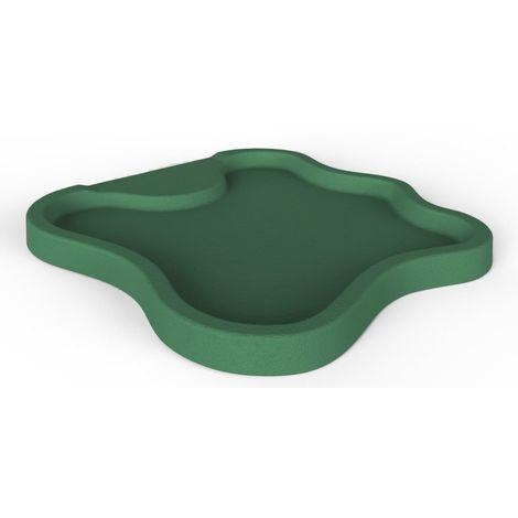 Bac à douche vert lac pour le jardin cm 107x103x9 ARKEMA DESIGN - prodotto made in Italy CV-D108/6016