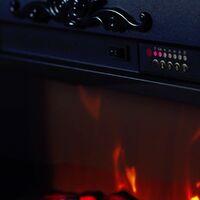 Cheminée classique à leds Helios White cm 100x109x26 GLOW-FIRE HELIOS