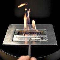 Cheminée noire au sol au bioéthanol cm 98,1x32x54 GLOW-FIRE OSLO