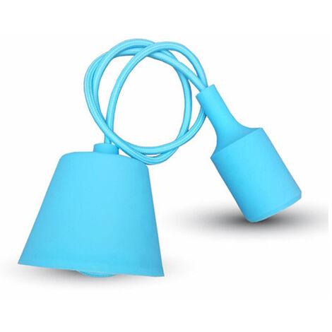 colgante e27 max.60w serie silicona azul claro
