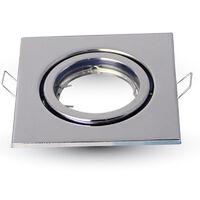ARO orientable hierro cuadrado encastrable cromo