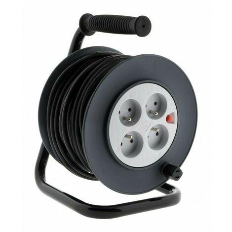 Enrouleur câble électrique 40 mètres 3G1.5MM2 HO5-VVF