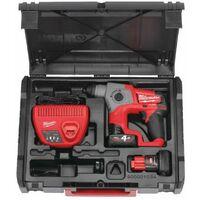 Perforateur compact SDS-Plus M12 FUEL™ avec 2 batteries 4Ah, chargeur et coffret - Milwaukee M12 CH-402X