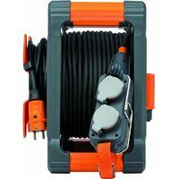 Enrouleur électrique 40m+5m avec Powerblock 4 prises à clapet Brennenstuhl