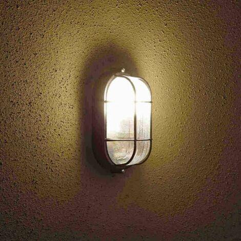 Biard  - Applique Extérieure Murale - LED Hublot Ovale - 9W - Black