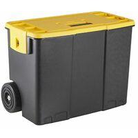 Boîte à outils/ Organisateur Empilable Plastique avec Roues/Poignée pour Atelier