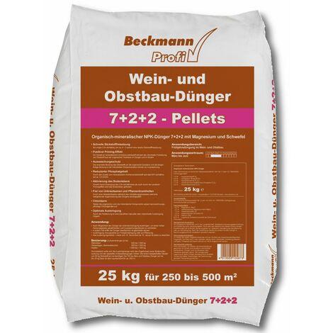 BECKMANN Weindünger Obstdünger 25 kg Weinbau Obstbau Profidünger