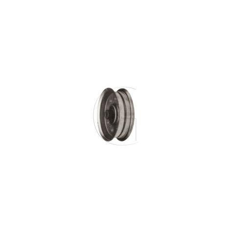 Poulie pour tondeuse roper n° orig 105313x poulie plate avec roulements