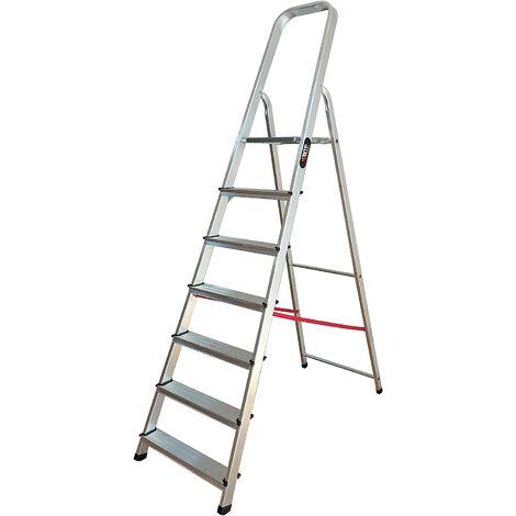 Nawa Escalera Domestica de Aluminio 7 Peldaños EN 131 Capacidad M·x. 150 kg