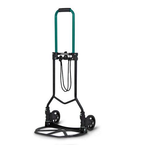 Diable pliant - Charge max. 80kg - Plateforme antidérapante - Tendeur élastique de 1.5m inclu