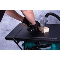 Scie sur table – 1 500W – 210mm, lame de scie de 40 dents et support inclus