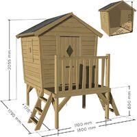 Cabane en bois pilotis pour enfant - Louane