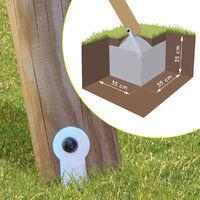 Portique en bois traité 3 agrès et échelle - Juliette