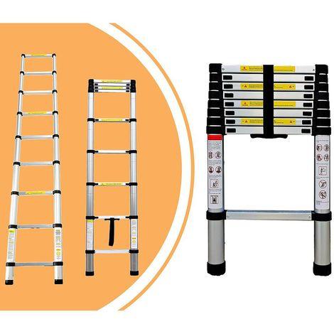Escalera Telescópica, Escalera Plegable, 2,6 Metro(s), EN 131, Carga máxima: 150 kg