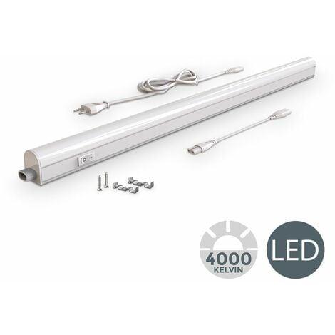 Réglette LED 230V 8W luminaire sous meuble cuisine atelier 15W