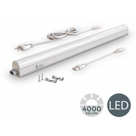 Réglette LED 230V 8W luminaire sous meuble cuisine atelier 8W
