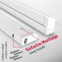 Réglette LED barre lumineuse placard pivotable de 150° pour cuisine atelier couleur blanche