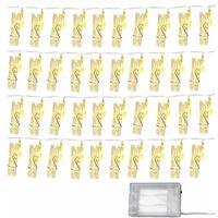 Guirlande LED photos 5m bande lumineuse décorative blanc chaud