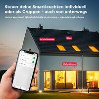 Ruban LED connecté blanc dimmable 3m Smart LED Stripe compatible avec Amazon Alexa Echo Dot & Google Home avec télécommande 230V auto-adhésif