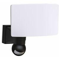Applique LED extérieur éclairage mural avec détecteur de mouvement 20W IP44 noire