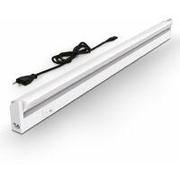 Réglette LED orientable 230V 9W éclairage plan de travail cuisine atelier armoire placard
