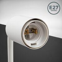 Applique murale design rétro industriel métal finition blanche éclairage salon & chambre lampe de chevet douille E27