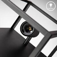 B.K.Licht plafonnier cage métal noir, lampe murale pour ampoule E27 de max 60W, ampoule non incluse, éclairage plafond & mural vintage entrée, couloir, chambres IP20