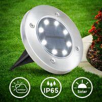 B.K.Licht set de 8 lampes LED solaires pour l'extérieur I Ø119 mm I étanche IP65 I allumage et extinction automatiques I lampe de jardin I lampe piquet de sol I lampe solaire