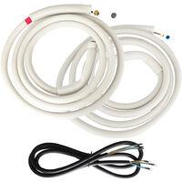 """Kit de montage pour les climatiseurs split de VIESTA - 2x 5m de ligne frigorifique en cuivre 1/4""""+ 3/8"""" + 5,8m de ligne électrique"""