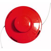 2x Nemaxx FS2 cabezal de doble hilo semiautomático - cabezal de corte de siega -accesorios de corte - hilo de nylon - carrete para desbrozadora gasolina – rojo