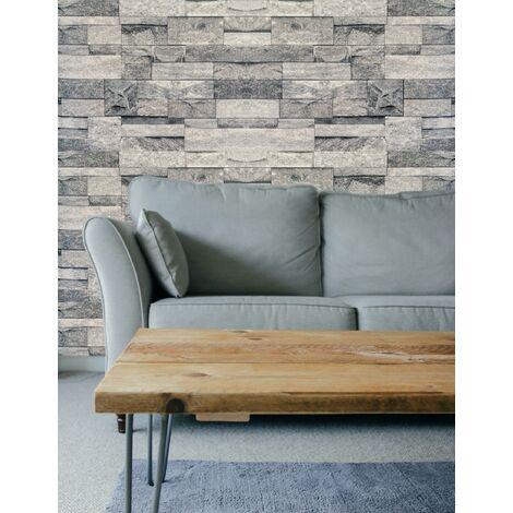 Brick Effect Wallpaper (Natural/Straight)