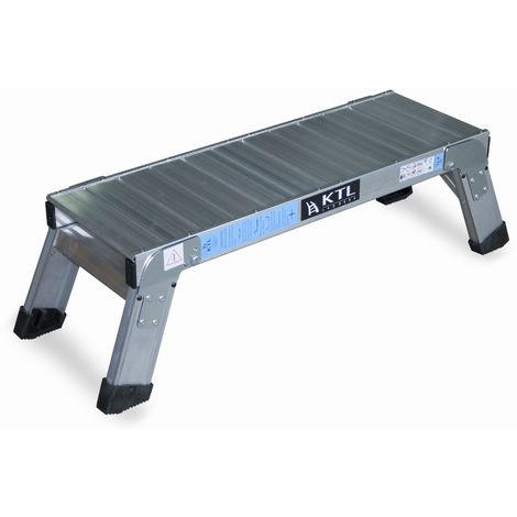 Plataforma de trabajo profesional de Aluminio plegable 1 peldaño 30x120 SERIE KARLA