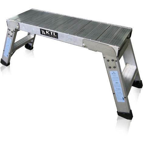Plataforma de trabajo profesional de Aluminio plegable 2 peldaños 30x90 SERIE KARLA