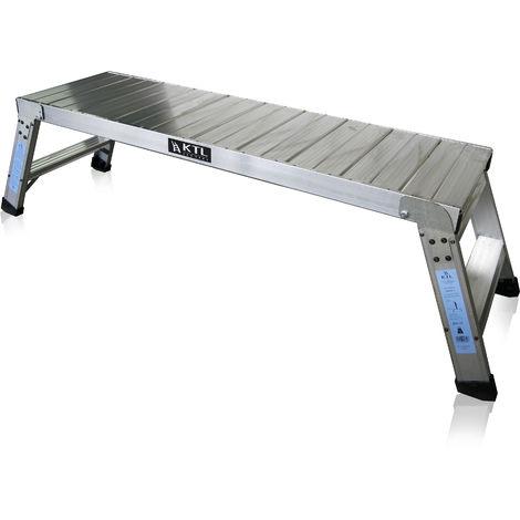 Plataforma de trabajo profesional de Aluminio plegable 2 peldaños 45x150 SERIE KARLA