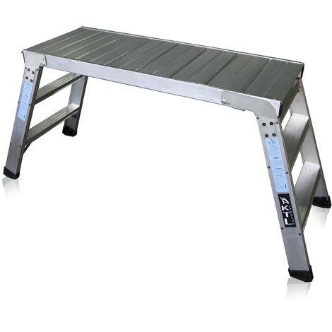Plataforma de trabajo profesional de Aluminio plegable 3 peldaños 45x120 SERIE KARLA